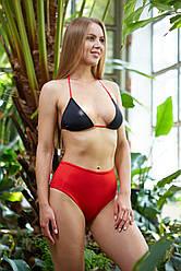 Черно-красный раздельный купальник NV Dominicana