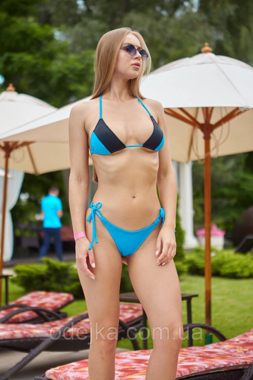Раздельный купальник NV Bora Bora черно-голубой