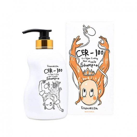 Шампунь Elizavecca с коллагеном CER-100 Collagen Coating Hair Muscle Shampoo
