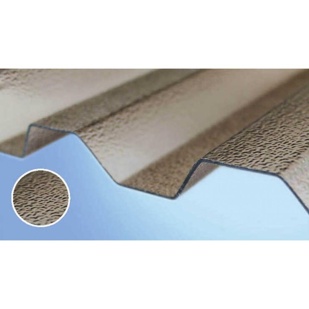Полікарбонатний шифер Rober бронзовий текстурований 2000*1045*0,8мм трапеція
