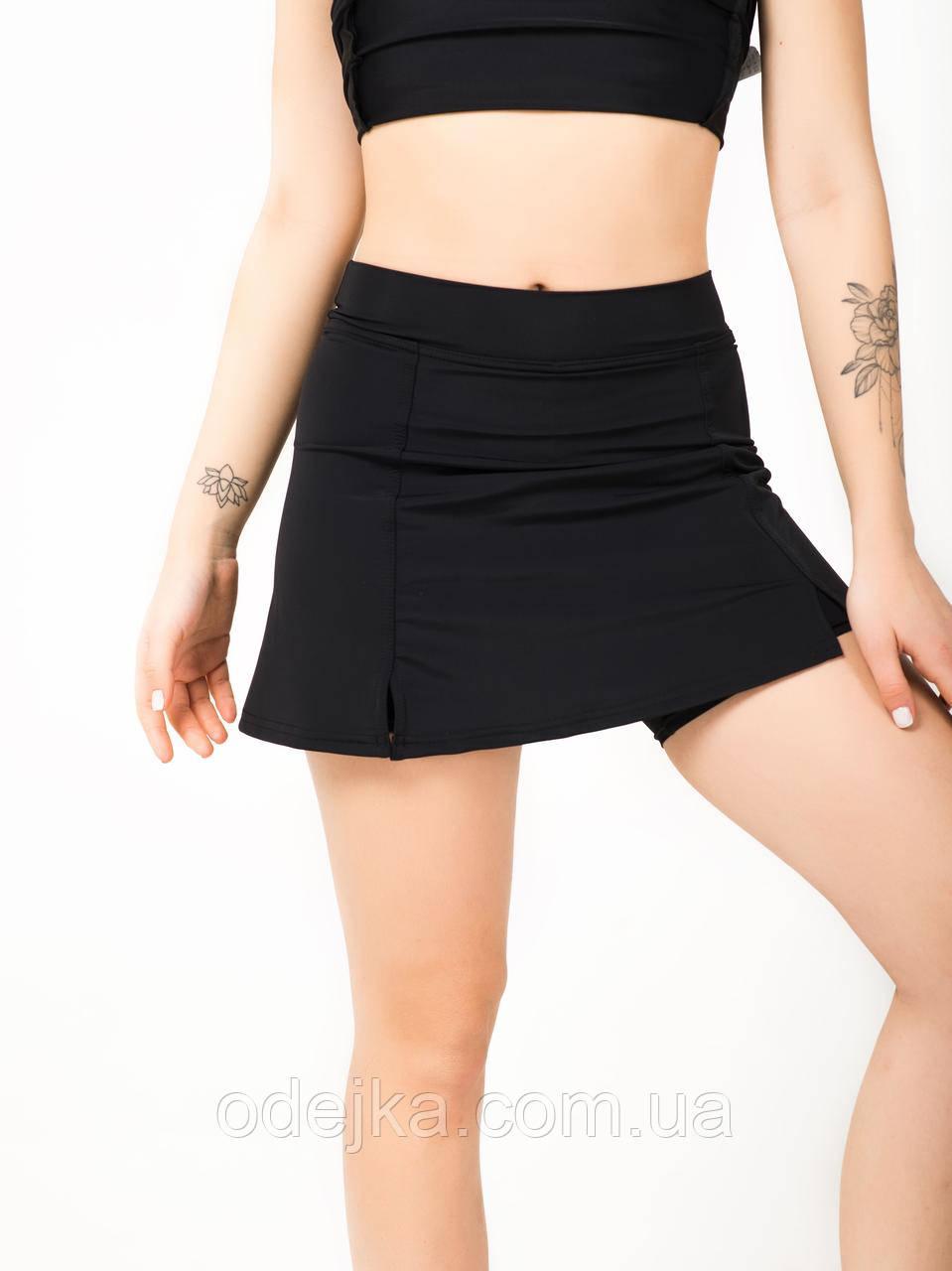 Черная юбка-шорты NV Serrade