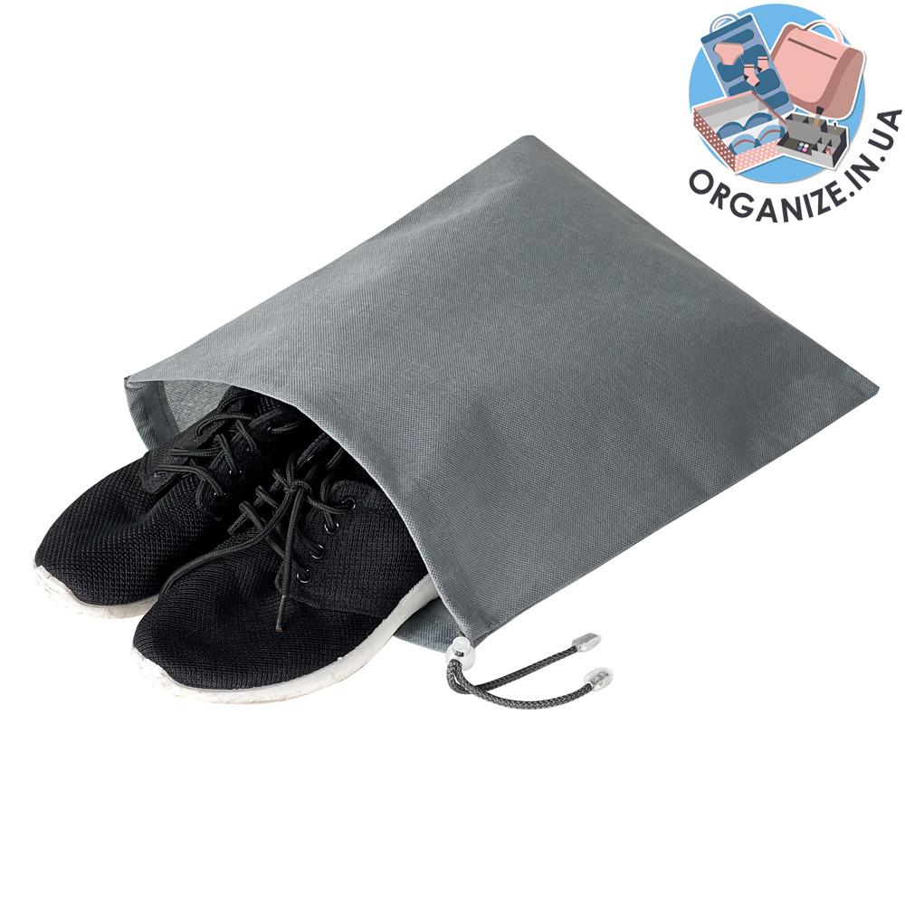 Мішок-пильник для взуття з затяжкою (сірий)
