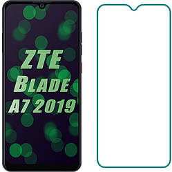 Защитное стекло ZTE Blade A7 2019 (Прозрачное 2.5 D 9H) (ЗТЕ Блейд А7)