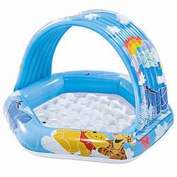 Бассейн надувной «Винни Пух» INTEX (58415). Ваш ребенок будет защищен от солнечных лучей.