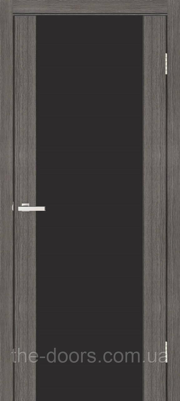 Дверь ОМиС Cortex Gloss ПО триплекс черный
