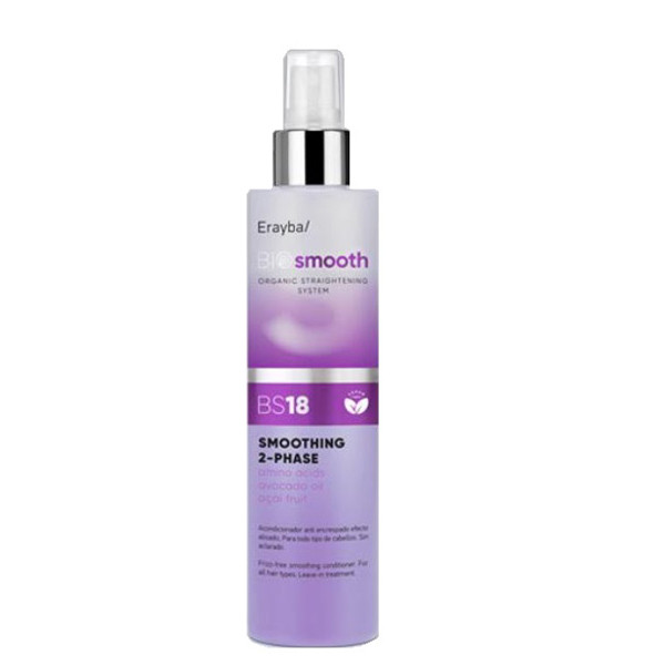 Двухфазный спрей для выпрямления волос Erayba Bio Smooth BS18 Smoothing 2-phase Spray 200 мл