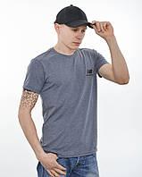 Мужская футболка New Balance (реплика) Cерый меланж