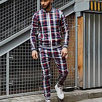 Спортивный костюм мужской Джентльмен | Высокое качество | Костюм мужской в клетку для повседневной жизни