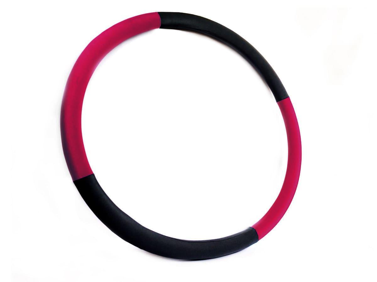 """Массажный Обруч """"Heavy Hoop"""" 1000 мм, вес 1 кг черно-малиновый"""