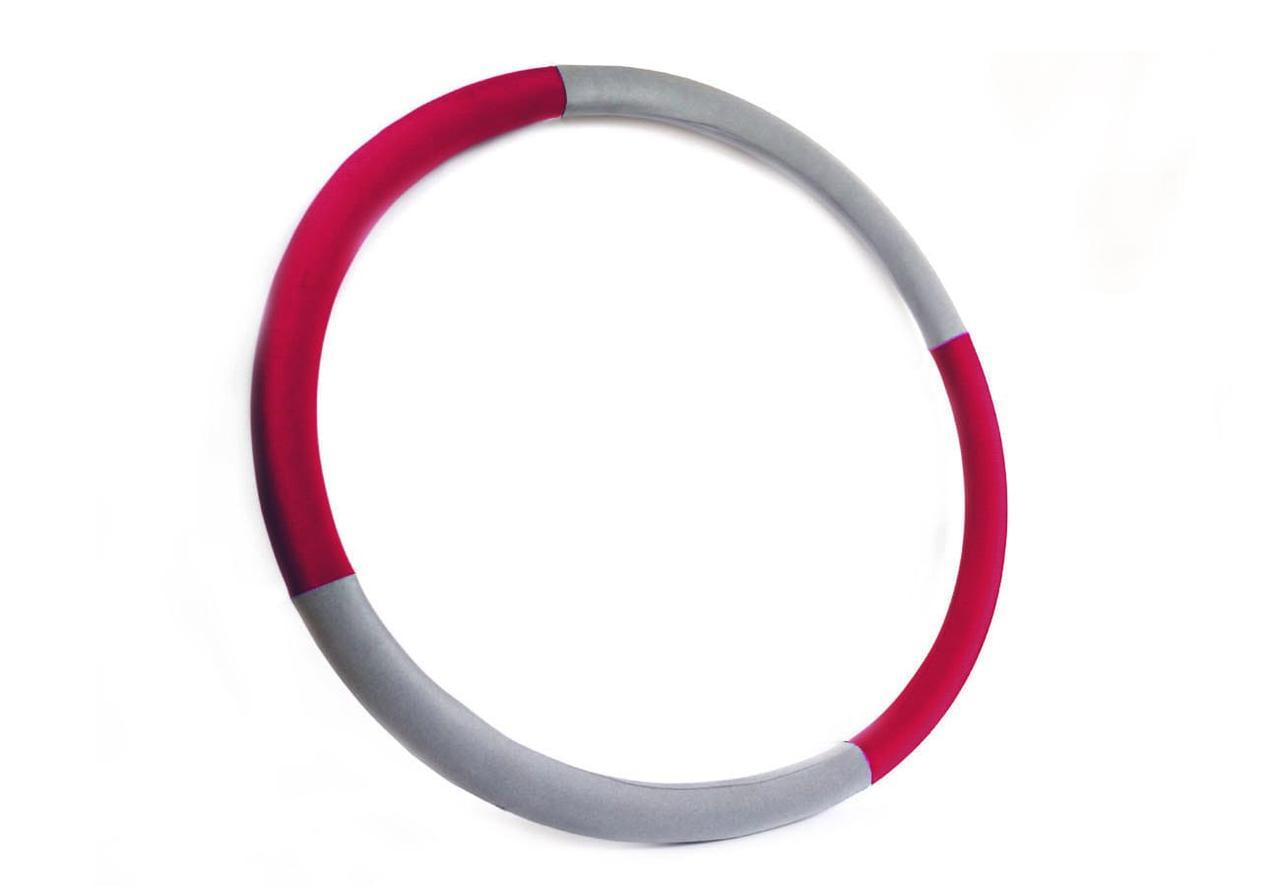 """Массажный Обруч """"Heavy Hoop"""" 1000 мм, вес 1 кг серо-малиновый"""