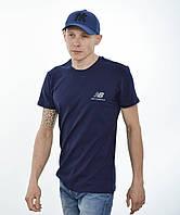 Мужская футболка New Balance (реплика) Синий+серый