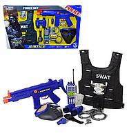 Детский игровой набор экипировки и снаряжения полицейского со световыми и звуковыми эффектами