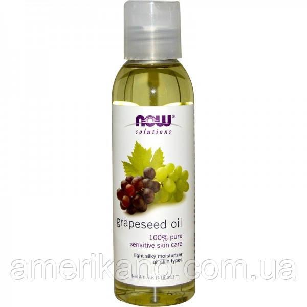 """Масло из виноградных косточек NOW Foods, Solutions """"Grapeseed Oil"""" увлажняющее (118 мл)"""
