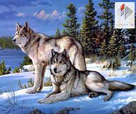 Картина для рисования камнями стразами Diamond painting Алмазная вышивка алмазами мозаика волки