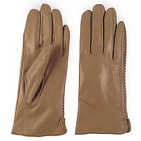 Женские перчатки ( кожаные, зимние, на флисе, цвета кофе с молоком)