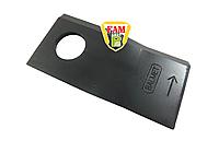 Нож роторной косилки BALMET левый 100х48х4 D21 434973 Pottinger, фото 1