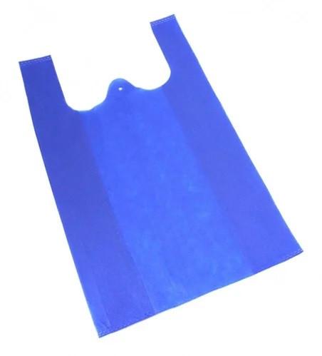 Еко-сумка з спанбонду, майка, 35*58 см, синя