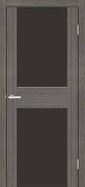 Двері Оміс Cortex Gloss 03 ПО триплекс чорний