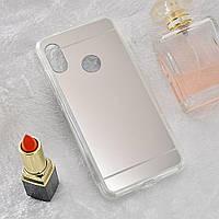 Чехол Fiji Mirror для Honor 8A силикон зеркальный бампер металлик