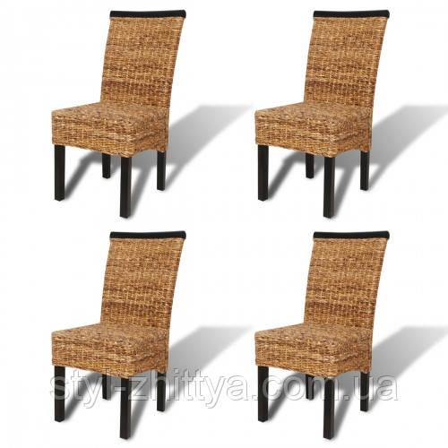 """Комплект """"Abaca"""" 4 стільця / ручне плетення"""