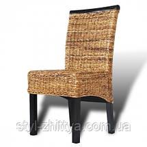 """Комплект """"Abaca"""" 4 стільця / ручне плетення, фото 2"""