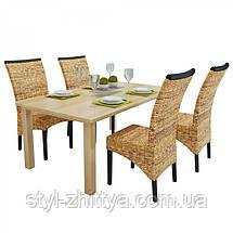 """Комплект """"Abaca"""" 4 стільця / ручне плетення, фото 3"""