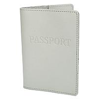 Обкладинка на паспорт шкіряна жіноча HC-24 (сіра), фото 1