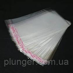 Упаковка поліетиленова прозора з клейкою стрічкою для кондитерських виробів, 10*17 см