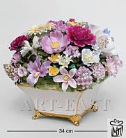 "Композиция из костяного фарфора ""Ваза с цветами"" (Pavone)"