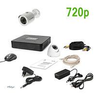 Комплект видеонаблюдения AHD Tecsar 2OUT-MIX на 2 видеокамеры