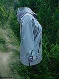 Вітрівка великих розмірів зі зйомним капюшоном Solo Sk-33, блакитна, фото 5
