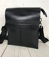 Невелика чоловіча сумка - планшет Polo з ручкою. Невелика сумка. Розмір 22*17 см КС34, фото 1