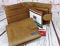 Кожаный мужской кошелек. Бумажник кожаный. Коричневое портмоне. Кошелек из натуральной кожи. С26, фото 1