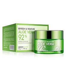 Bioaqua крем алоэ для лица Refresh & Moisture Aloe Vera 92 % Moisturizing Cream, 50 г