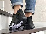 Лёгкие мужские кроссовки сетка в стиле Puma хаки, фото 2