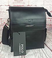 Маленькая Мужская МИНИ сумка-планшет Polo с ручкой. Барсетка мужская. Размер(в см) 19 на 15 КС65-1, фото 1