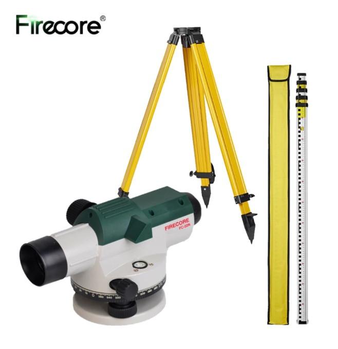 Оптический уровень FIRECORE FC-32N 32X ➤ инструмент для измерения расстояния, угла обзора + рейка + штатив