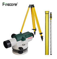 Оптический уровень FIRECORE FC-32N 32X инструмент для измерения расстояния + рейка 5м + штатив