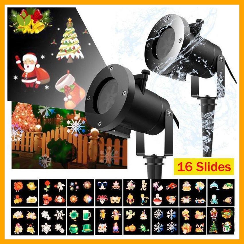 Лазерний проектор Christmas Laser Projector 16 картриджів № 16F