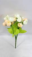Искусственный  букет английской розы-нов 22см (цвет кремовый)