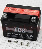 Акумулятор TCS 4Аһ YTX4L-BS кислотний (L113*W70*H90mm)
