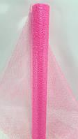 """Флористична сітка""""павутинка"""",колір яскраво рожевий ,на метраж лист 1,0*0,5 м"""