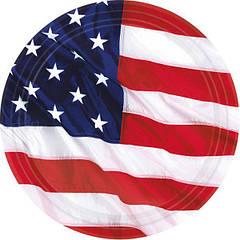 Тарілки прапор США 8шт.