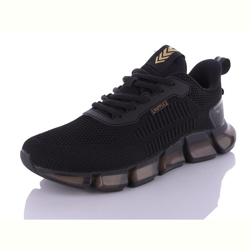 Модные кроссовки Baas Supple мужские текстильные черные на пене