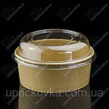 Упаковка для салата из бумаги КРАФТ/КРАФТ 750 мл., d-150, h-56мм. 50шт/уп, 6уп/ящ.
