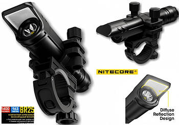 Мощный велосипедный фонарь NITECORE BR25+Аккумулятор USB Type-C 5000mAh (1400LM, Luminus SST-40, 1*21700)