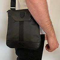 Мужская сумка через плечо Puma (Пума) черная, планшетка, барсетка, видео обзор