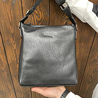 Мужская сумка через плечо Jaguar черная, планшетка, барсетка, видео обзор