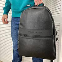 Мужской рюкзак, портфель, городской рюкзак Tommy Hilfiger Томми черный портфель кожаный рюкзак