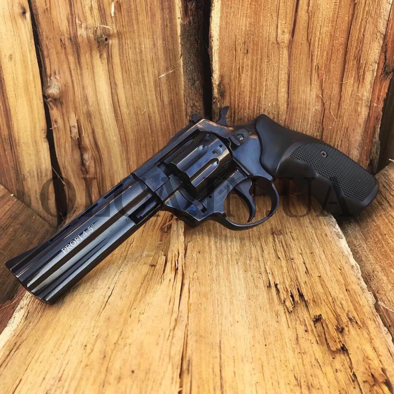 """Револьвер Zbroia Profi 4.5"""" под патрон флобера (черный/пластик)"""